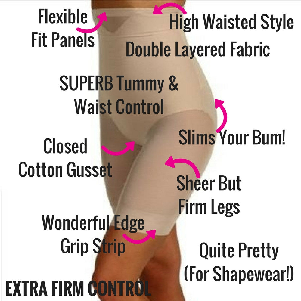 miraclesuit shapewear sexy sheer thigh slimmer