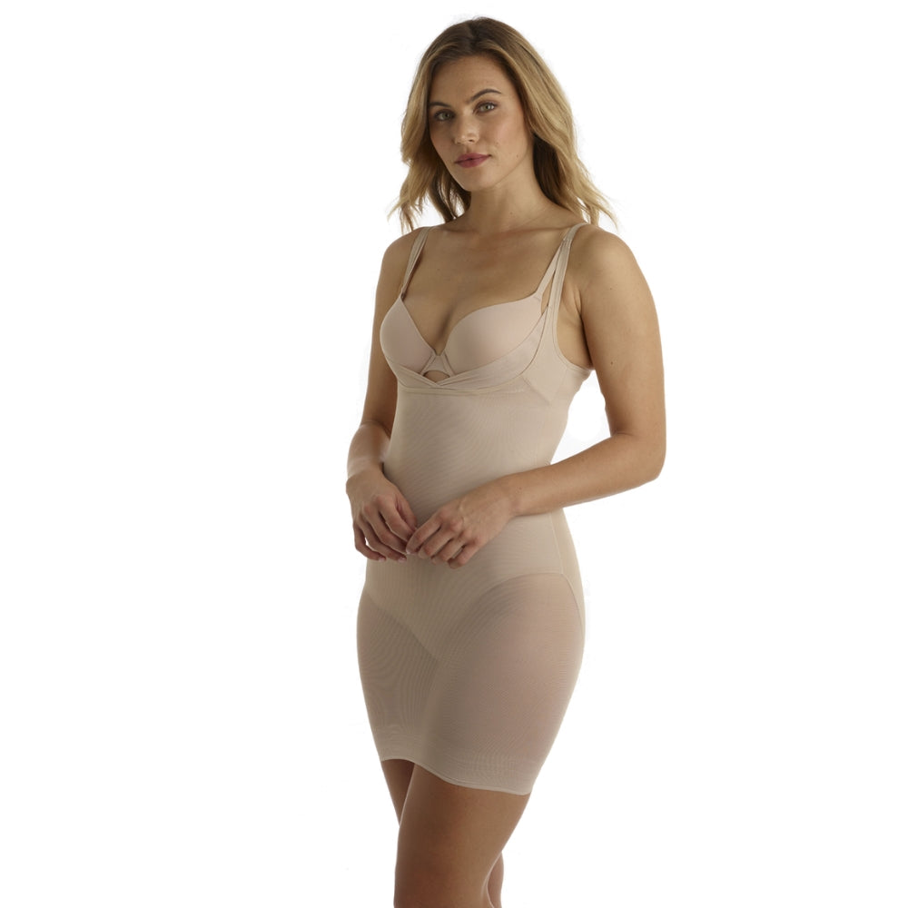Miraclesuit Sexy Sheer WYOB Extra Firm Shapewear Slip 2772 Natural Front