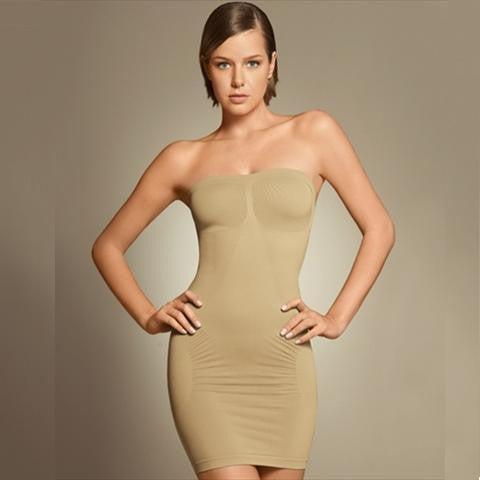 Plie Shapewear Body Slimming Tube In Natural