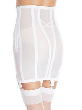 rago shapewear open bottomed girdle white back