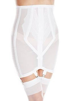 rago shapewear open bottomed girdle white front
