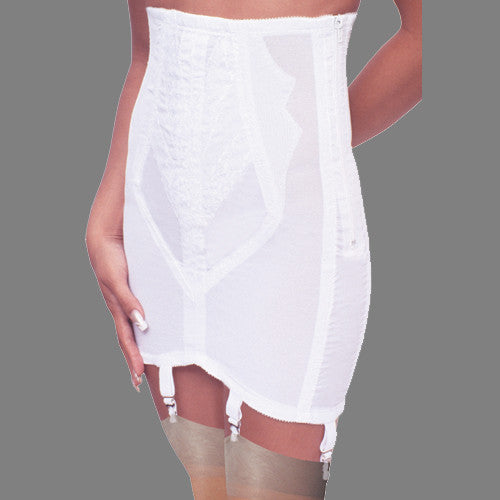 rago shapewear open bottomed girdle white