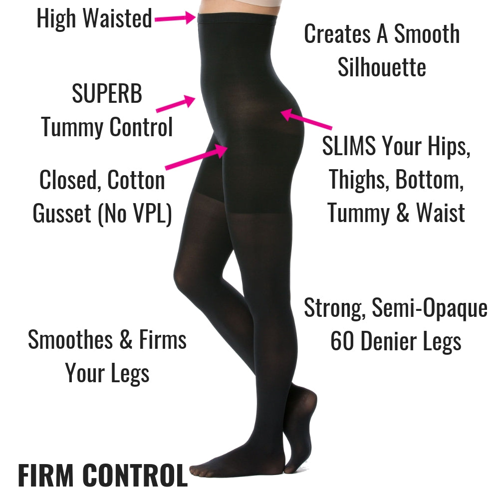 Spanx Control Tights Black