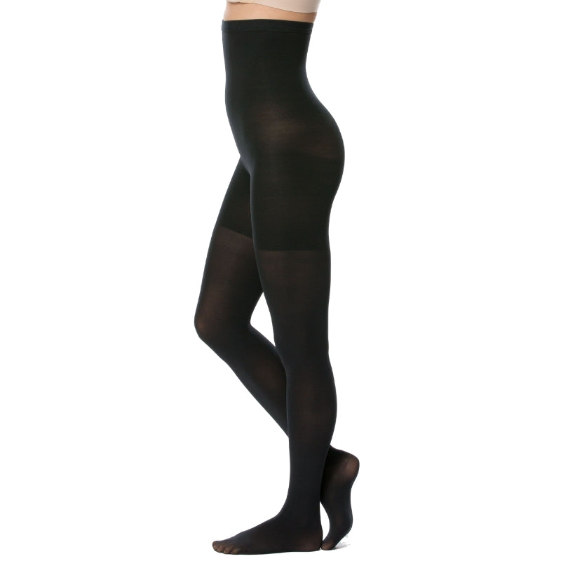 Spanx Control Tights Black Side View