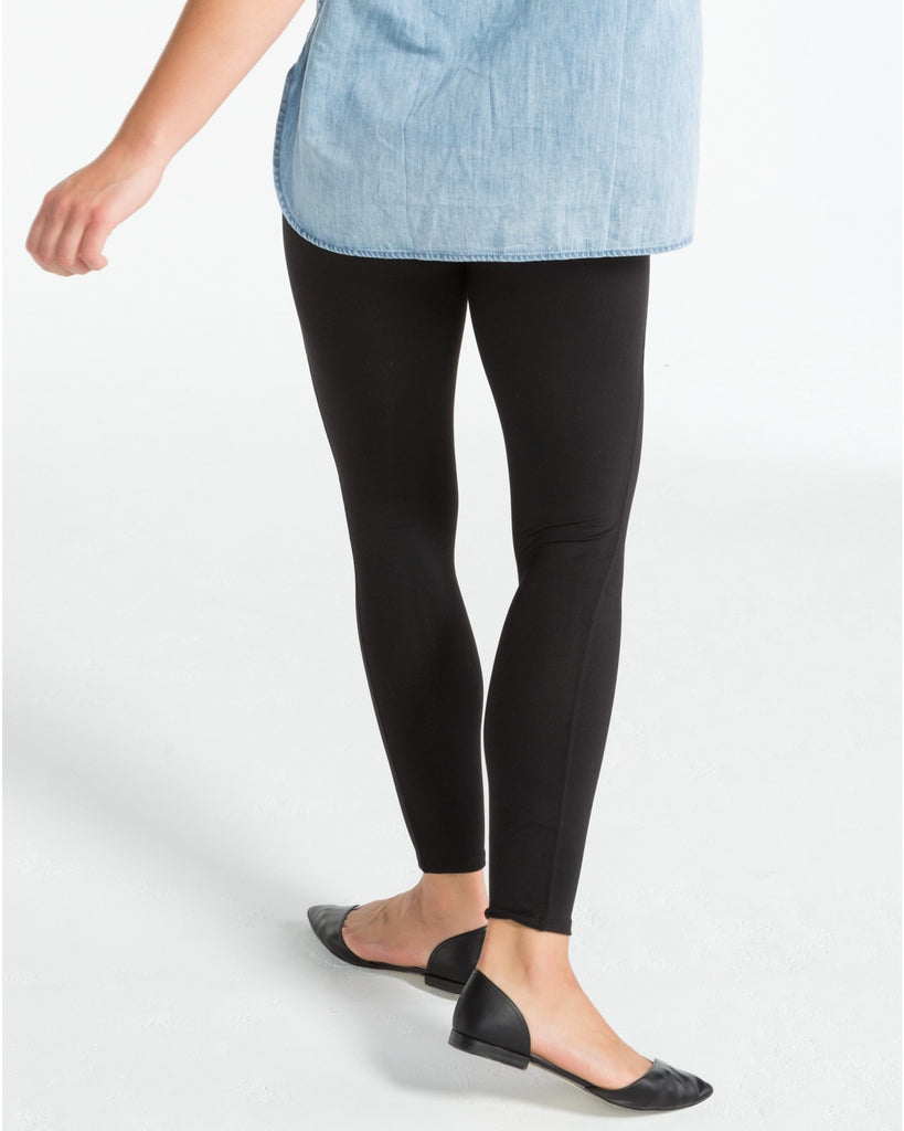Spanx Essential Very Black Slimming Leggings - SPX FL1415 Back View