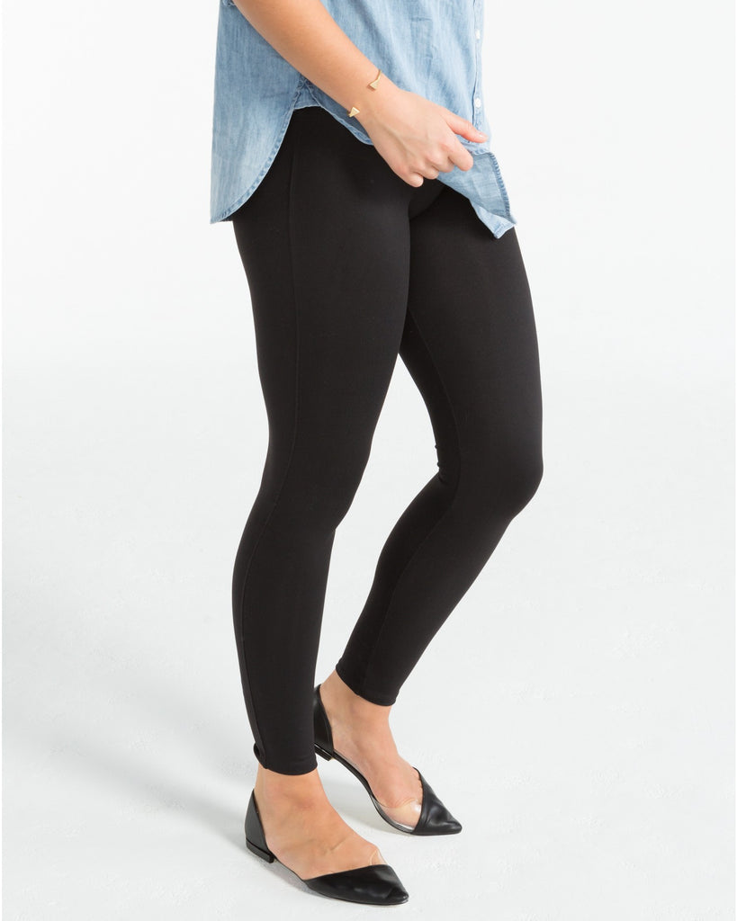 Spanx Essential Very Black Slimming Leggings - SPX FL1415 Side View