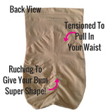 Spanx Higher Power High Waisted Shaper Briefs 2746 Back View