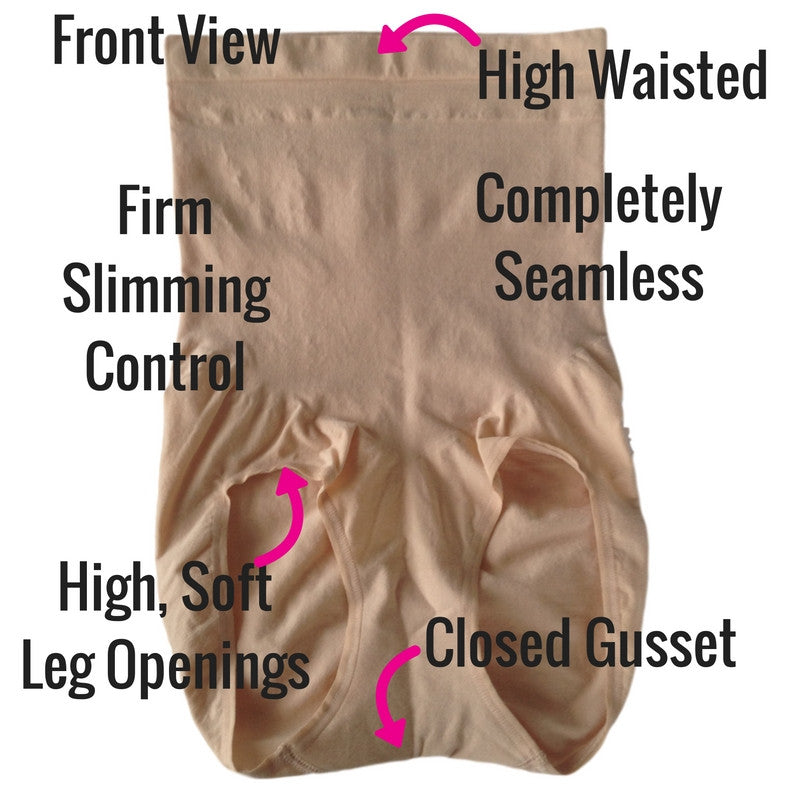 Spanx Higher Power Shaper Briefs Front View Detail