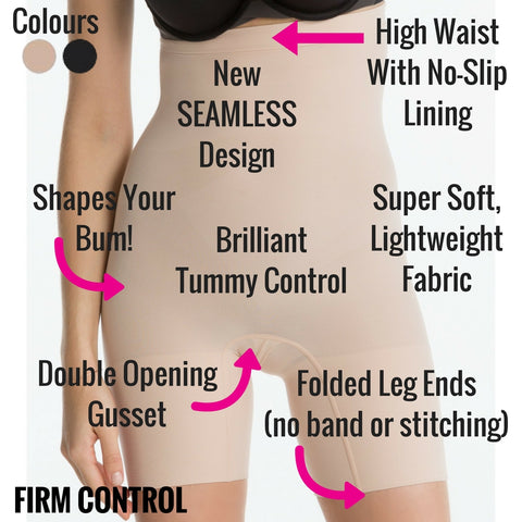 Spanx Higher Power Mid Thigh Shaper Shorts - Best Tummy Control Shapewear
