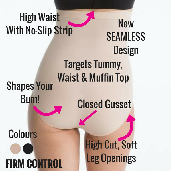 7f73c48f5bb Spanx Higher Power Shaper Briefs - Wear With Your SHORTEST Dresses! – The  Magic Knicker Shop