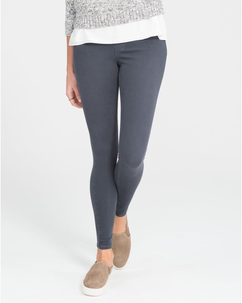 Spanx Jean-ish Steel Grey Slimming Leggings - SPX 20056R Front View