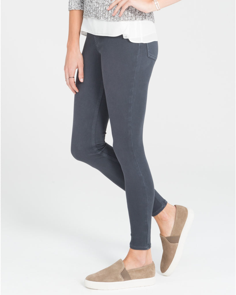 Spanx Jean-ish Steel Grey Slimming Leggings - SPX 20056R Side View