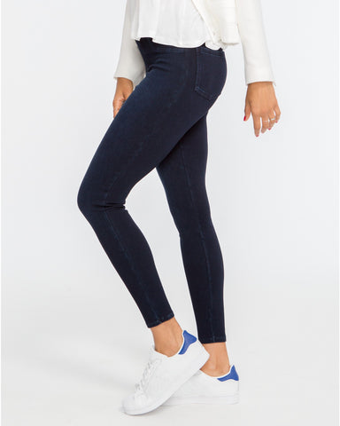 Spanx Jean-ish Twilight Rinse Slimming Leggings - Indigo Blue - SPX 20048R Side View