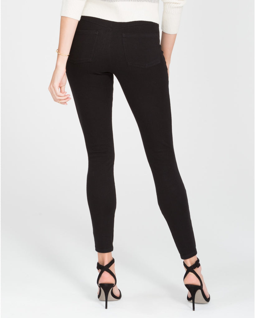 Spanx Jean-ish Very Black Slimming Leggings - SPX 20056R Back View