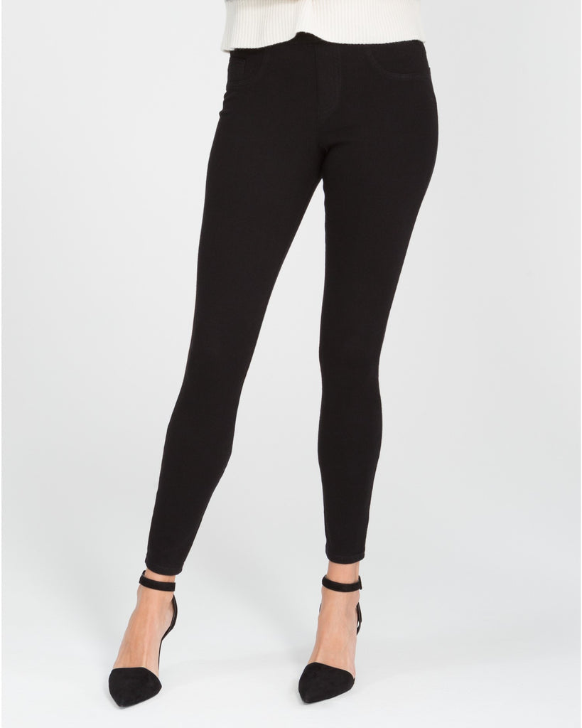 Spanx Jean-ish Very Black Slimming Leggings - SPX 20056R Front View
