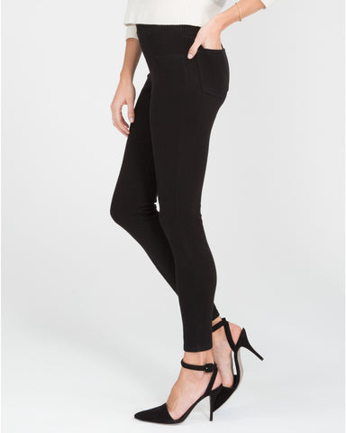 Spanx Jean-ish Very Black Slimming Leggings - SPX 20056R Side View