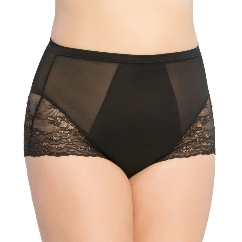 Spanx Spotlight On Lace Firm Control Briefs Black Front View
