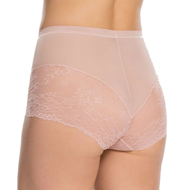 Spanx Spotlight On Lace Firm Control Briefs Vintage Rose Back View