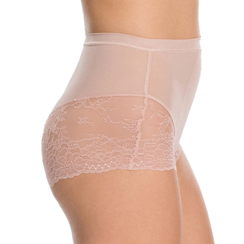 Spanx Spotlight On Lace Firm Control Briefs Vintage Rose Side View