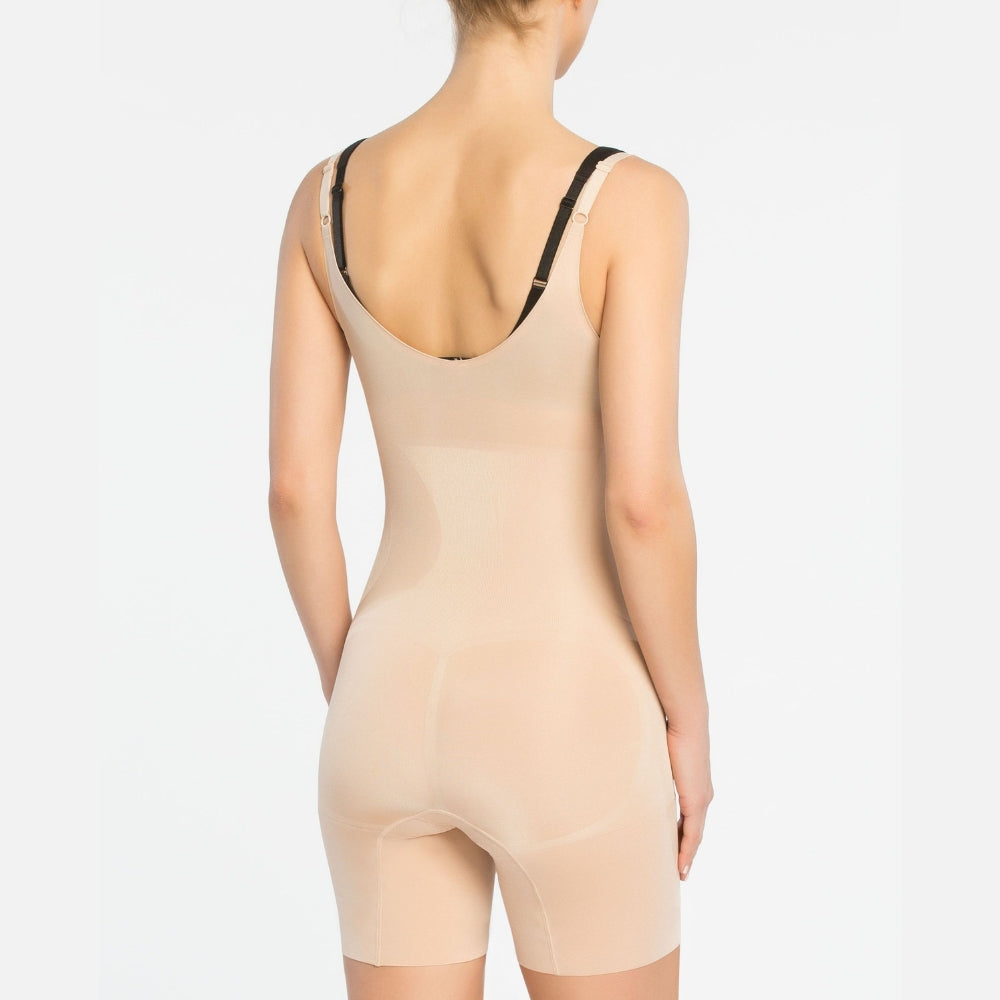 spanx oncore extra firm control open bust shapewear bodysuit 10130r beige back