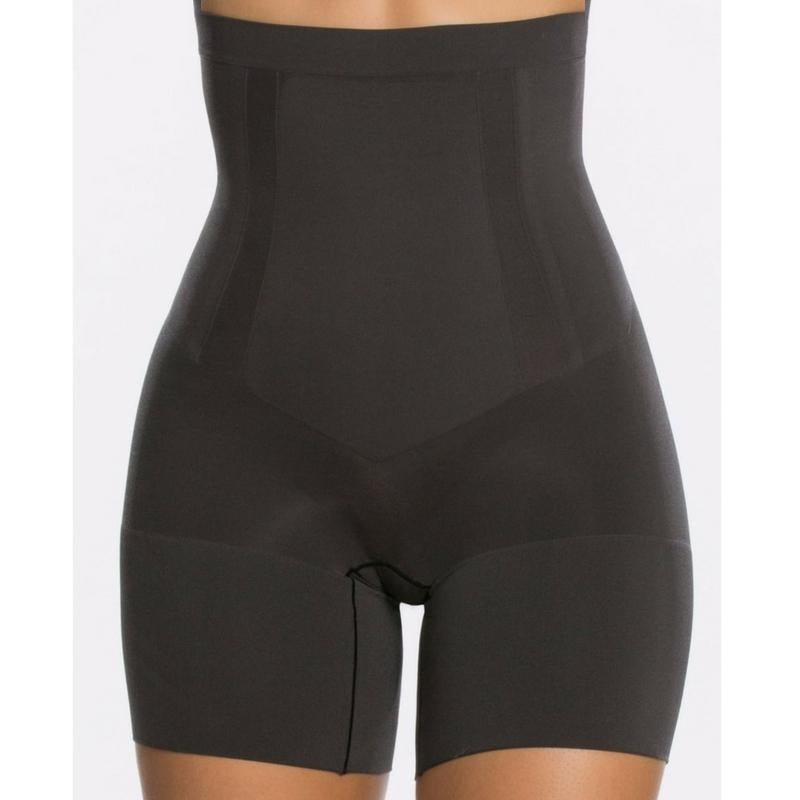 Spanx Oncore High Waisted Mid Thigh Shaper Shorts SS1915 Black Front