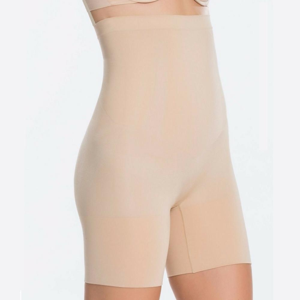 Spanx Oncore High Waisted Mid Thigh Shaper Shorts SS1915 Natural Side