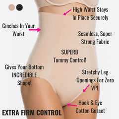 Spanx Oncore Extra Firm Control Briefs - Bum Shaping Control Pants