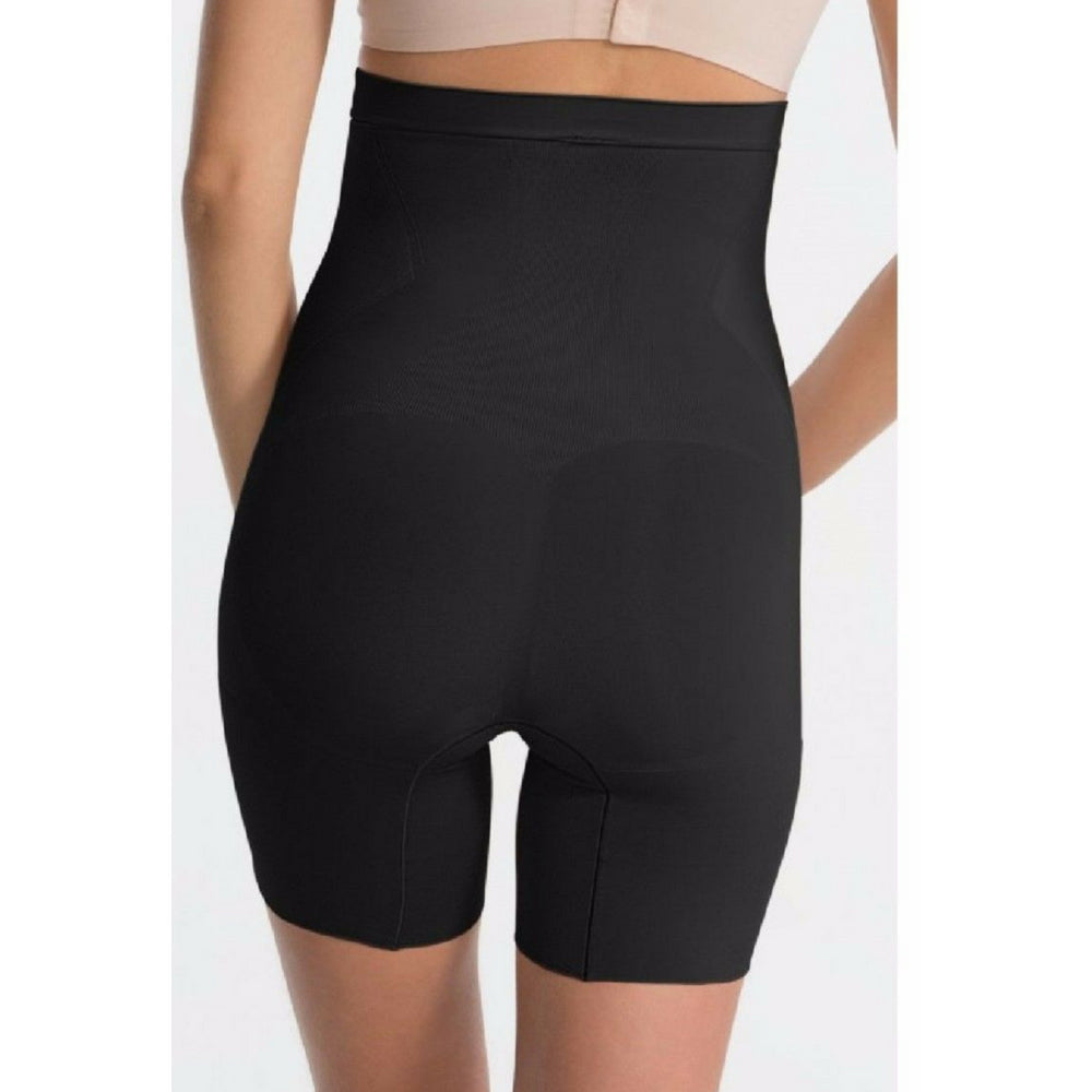 Spanx Oncore High Waisted Mid Thigh Shaper Shorts SS1915 Black Back