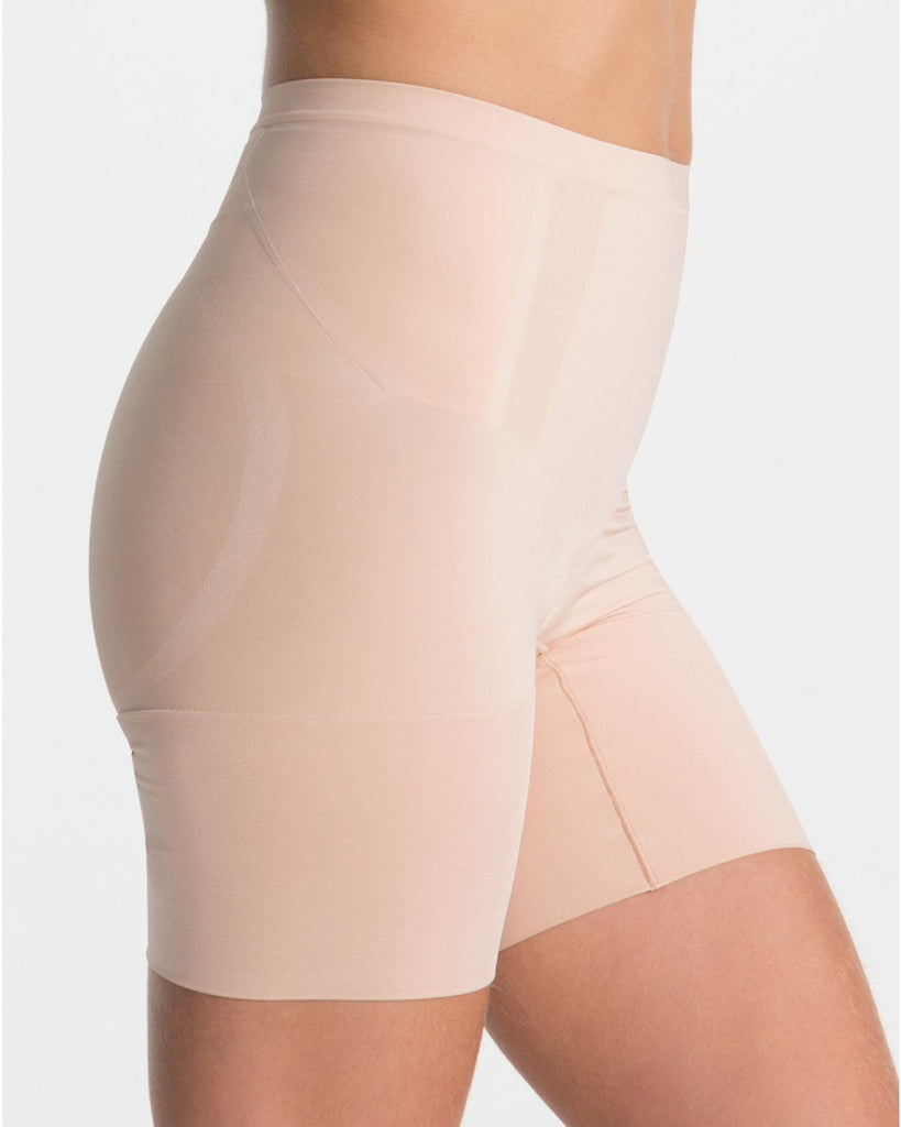 Spanx OnCore Extra Firm Control Mid Thigh Shaping Shorts - SS6615 Nude Side View