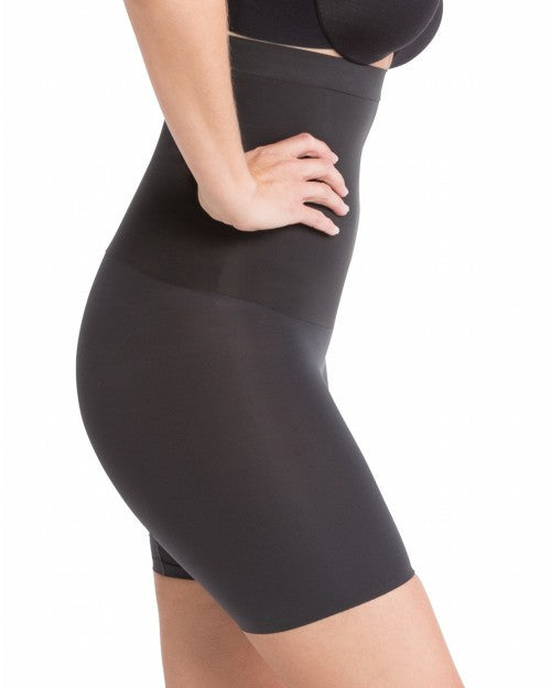 Spanx Shape My Day Mid Thigh High Waist Shaping Shorts - SS5715 Black Side View
