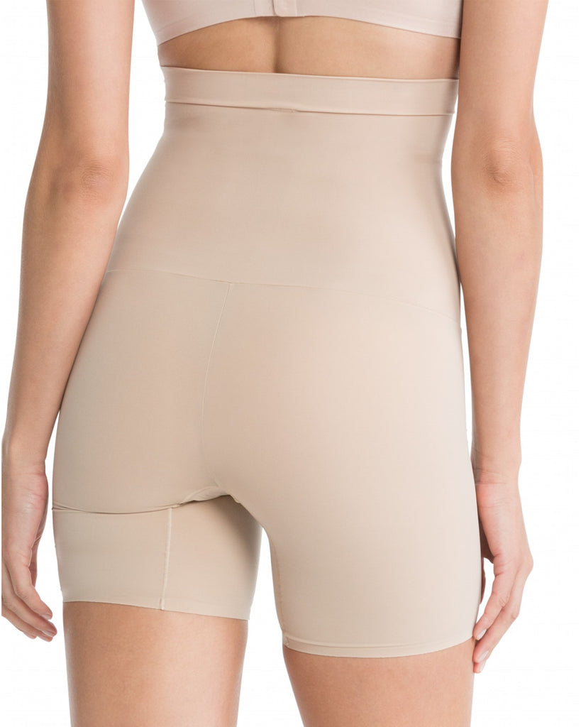 Spanx Shape My Day Mid Thigh High Waist Shaping Shorts - SS5715 Nude Back View