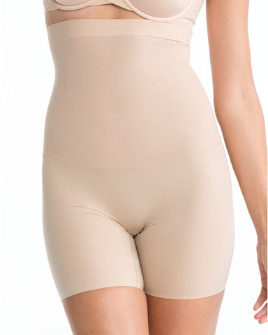 Spanx Shape My Day Mid Thigh High Waist Shaping Shorts - SS5715 Nude Front View