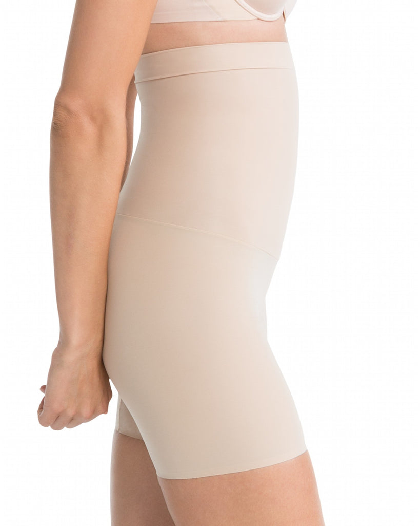 Spanx Shape My Day Mid Thigh High Waist Shaping Shorts - SS5715 Nude Side View