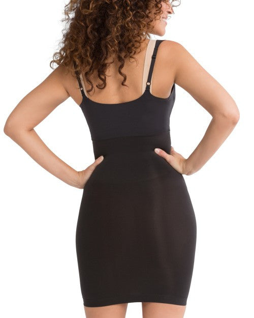Spanx Shape My Day Open Bust Shapewear Slip - SS0215 Black Back View