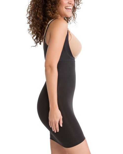 Spanx Shape My Day Open Bust Shapewear Slip - SS0215 Black Side View