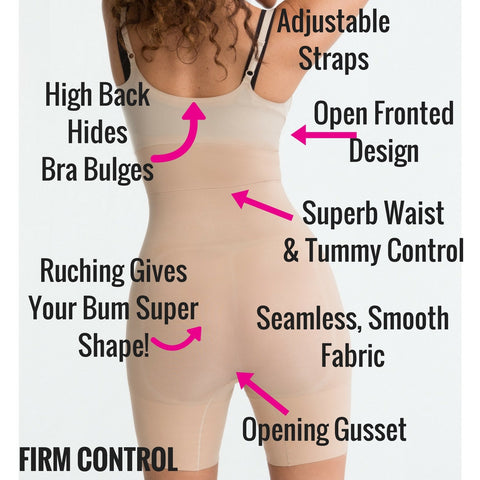 spanx shape my day open bust slimming bodysuit