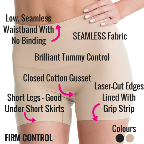 Spanx Shape My Day Slimming Girl Shorts - Best Tummy Control Shapewear For Low Backed Dresses