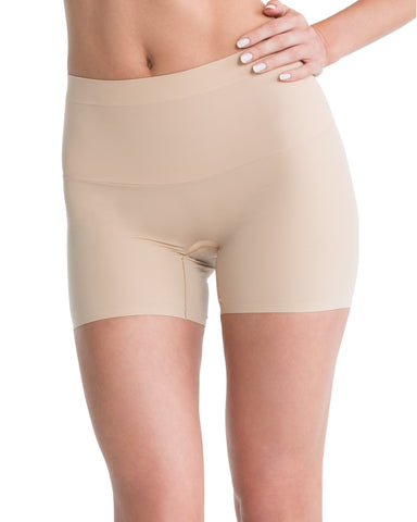 Spanx Shape My Day Slimming Girl Shorts - SS7215 Nude Front View