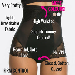 Spanx Spotlight On Lace High Waisted Control Briefs - Best Shapewear For Tummy Control