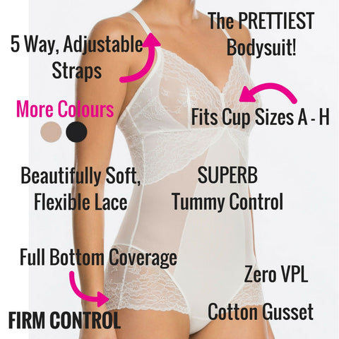 spanx spotlight on lace firm control slimming bodysuit