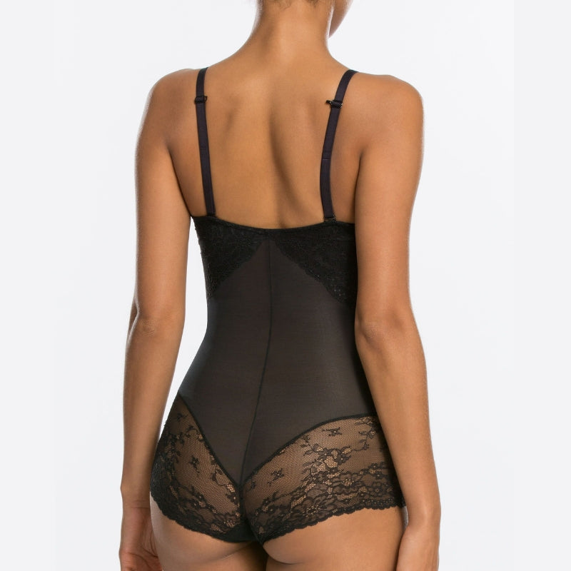 Spanx Spotlight On Lace Firm Control Shaping Bodysuit Black Back