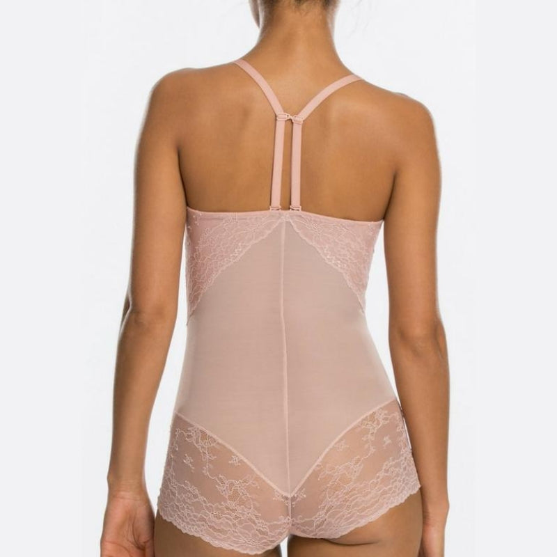 e0e91a797 Spanx Spotlight On Lace Firm Control Shaping Bodysuit Vintage Rose T Back  Straps. Spanx Spotlight On Lace Firm Control Shaping Bodysuit Vintage Rose  T Back ...
