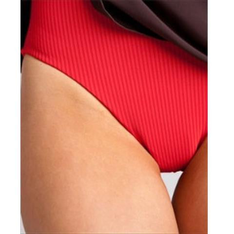 Spanx Swim Dress Slimming Swimsuit In Chocolate Close Up Of Costume