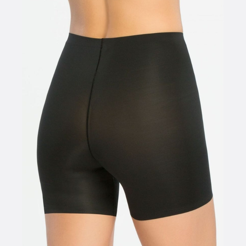 Spanx Thinstincts Firm Control Girl Shorts Black Back View