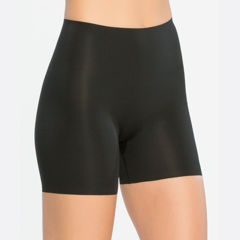 Spanx Thinstincts Firm Control Girl Shorts Black Front View