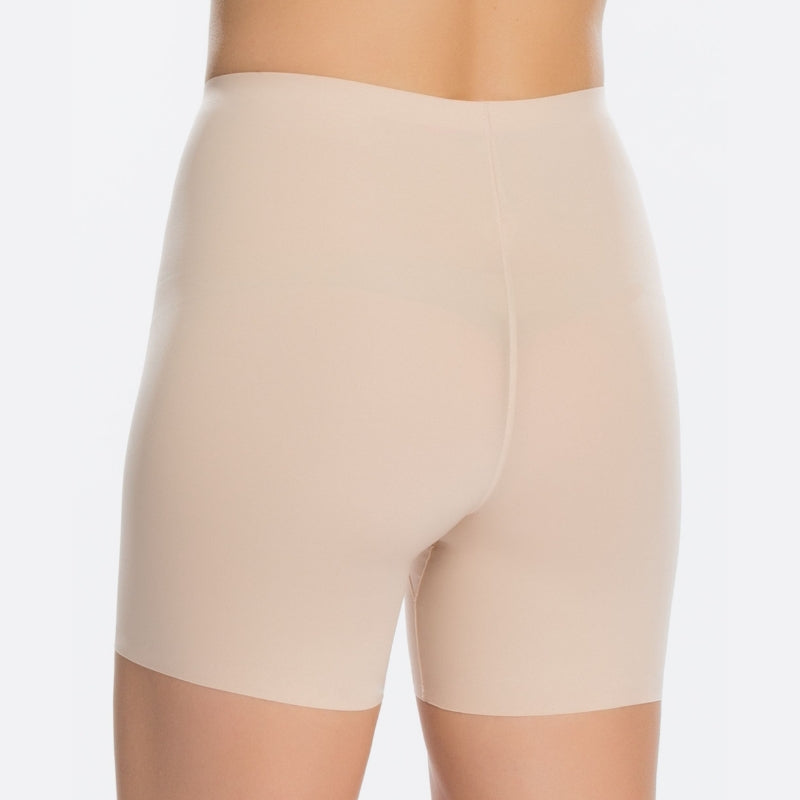 Spanx Thinstincts Firm Control Girl Shorts Nude Back View