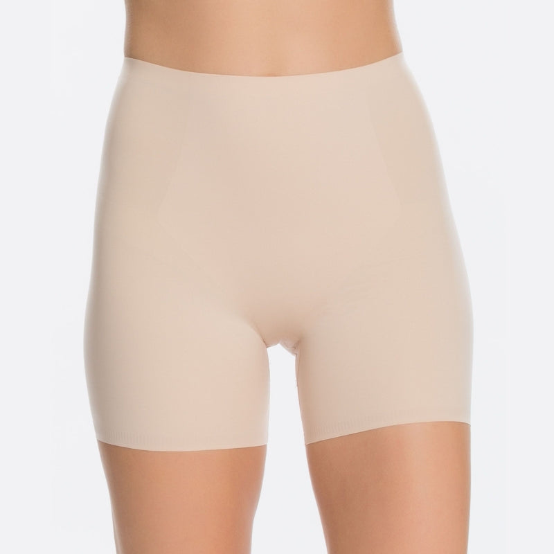Spanx Thinstincts Firm Control Girl Shorts Nude Front View