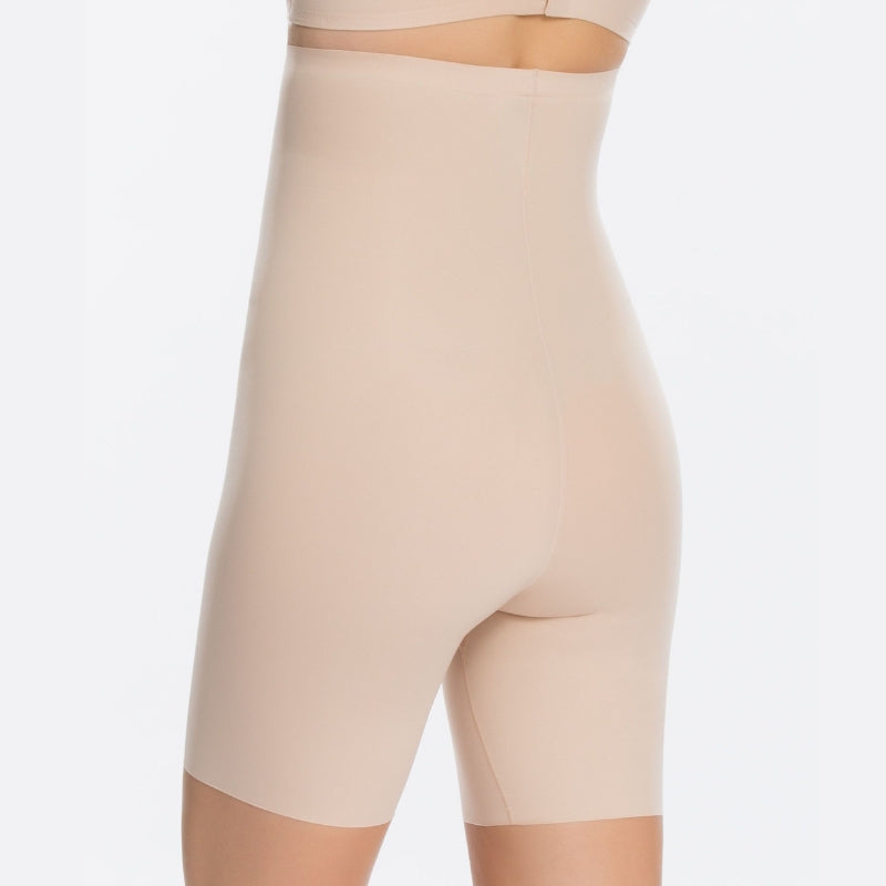 Spanx Thinstincts High Waisted Mid Thigh Shaper Shorts Nude Back