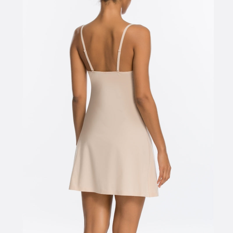 Spanx Thinstincts Shapewear Slip Nude Back View