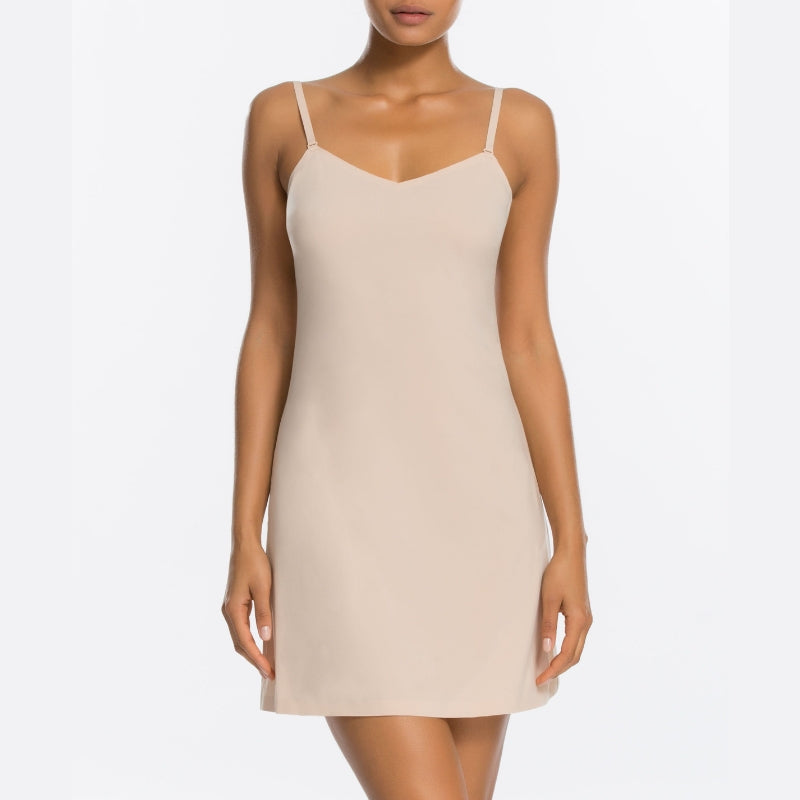 Spanx Thinstincts Shapewear Slip Nude Front View